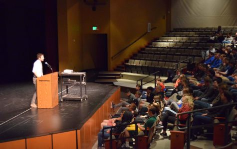 Author Jeff Hobbs spoke to Seattle Prep students about his book The Short and Tragic Life of Robert Peace