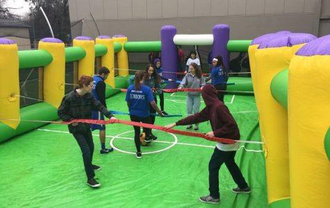 Seniors Triumph in New Human Foosball Event
