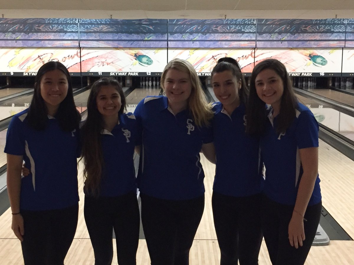 Members of the Seattle Prep Bowling Team pose during a match. Prep Bowling is in its second season.
