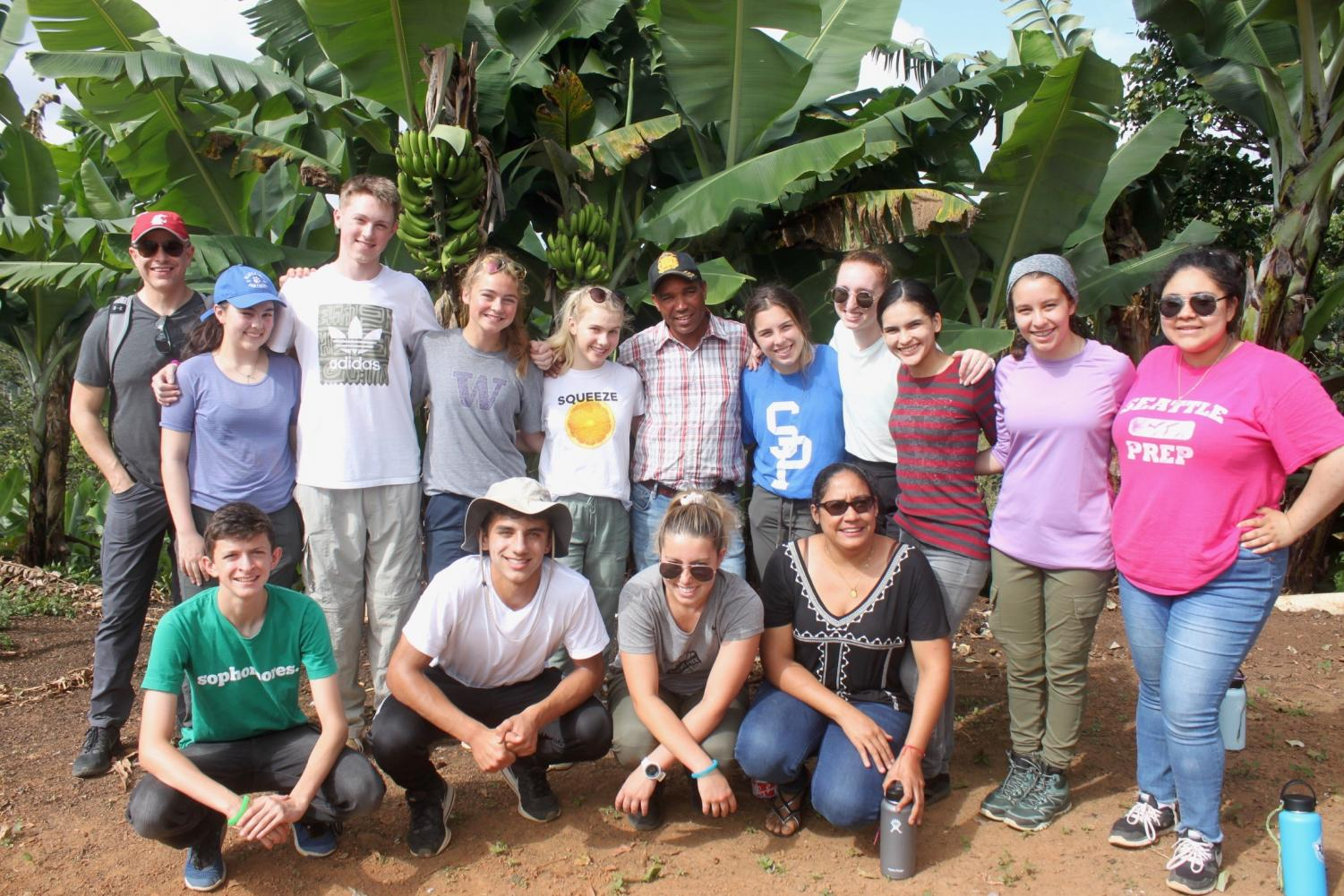 Students on the service trip to the Dominican Republic during the Summer of 2019.
