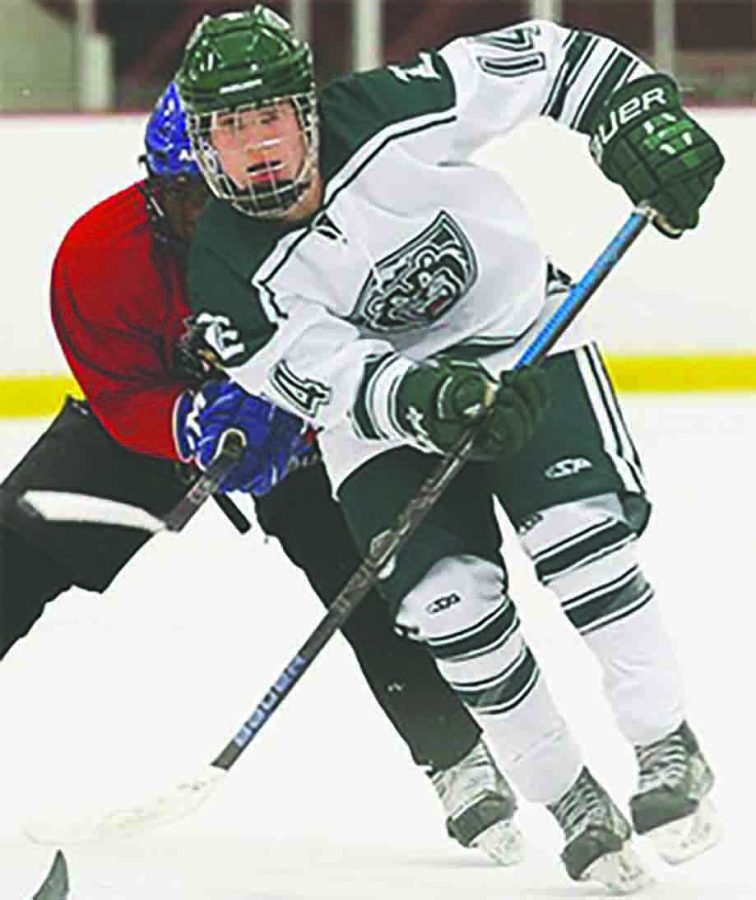 Senior Cole Dubicki will pursue his dreams on the ice next year as a member of the Kenai River Brown Bears.