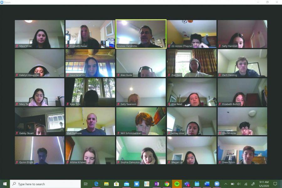 Marquette Collegio discusses UN over Zoom.