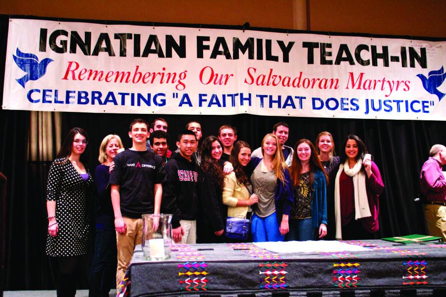 Students and teachers assemble in solidarity at the Ignatian Family Teach-In in Washington DC