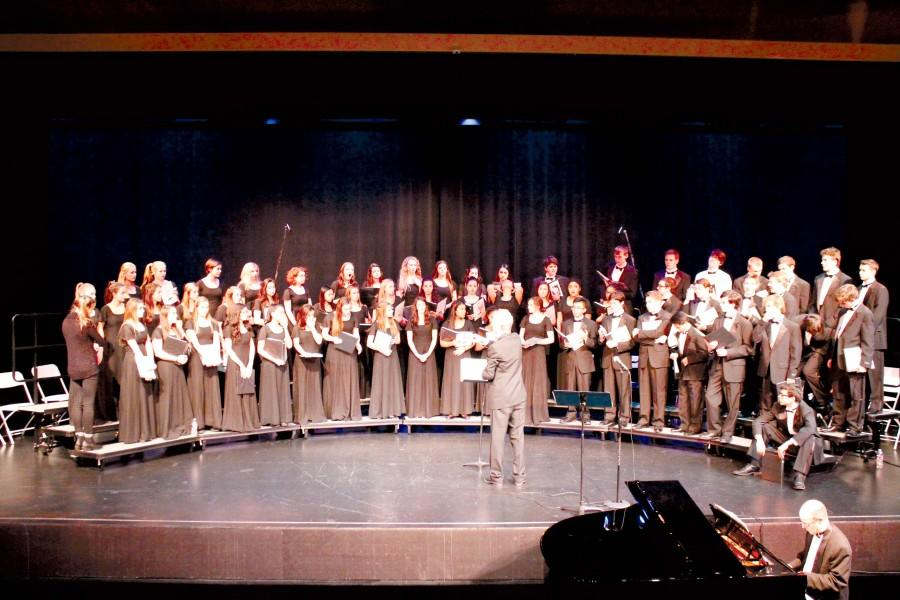 The Seattle Prep Choir performs under the direction of Dr. Huntley Beyer