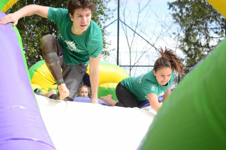 Seniors Conquer Obstacle Course