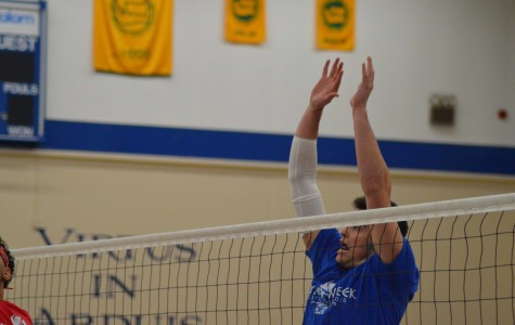 Jogues Tops Seniors in Volleyball Win