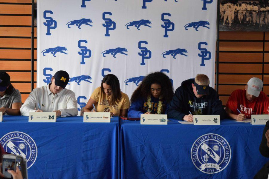 Panther athletes sign letters of intent to compete in college sports.
