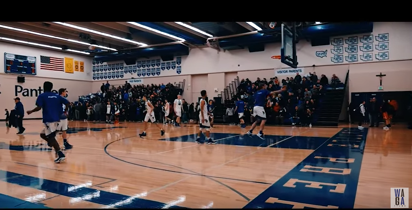 A shot from WAGA Films Seattle Prep Basketball Video