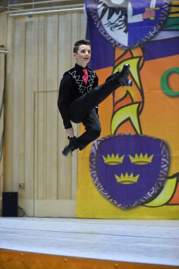 Irish Dancer Cameron Lambert '19 performs at a national Irish Dance competition. Lamber and other Prep students compete internationally in Irish Dance.