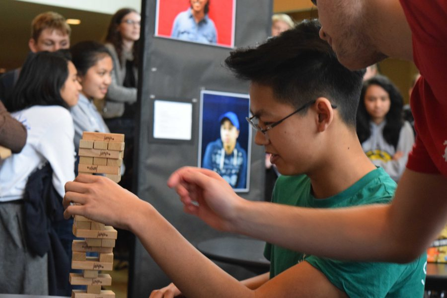 Olympic Week Jenga called on Panthers who had steady hands and were cool under pressure. For the second time in four years, Senior George Kent took first place.