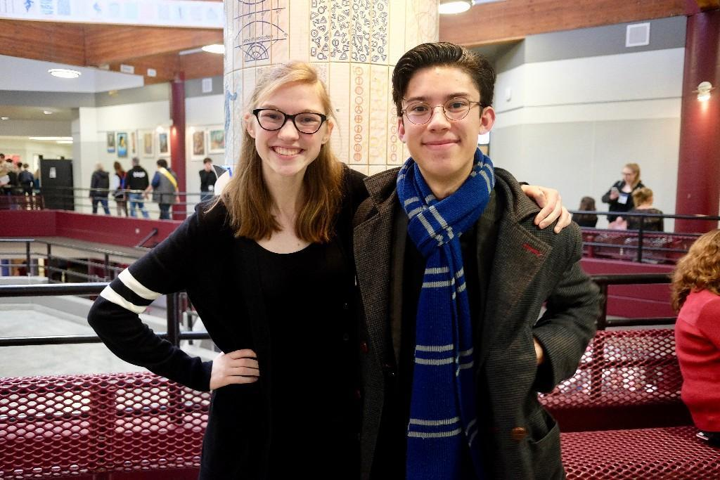 Junior Emma Cooney and Senior Elijah Pasco will be competing in the Washington State Thespian Festival competition. The pair placed in the top 10% of the regional competition in the Duo Scene category.