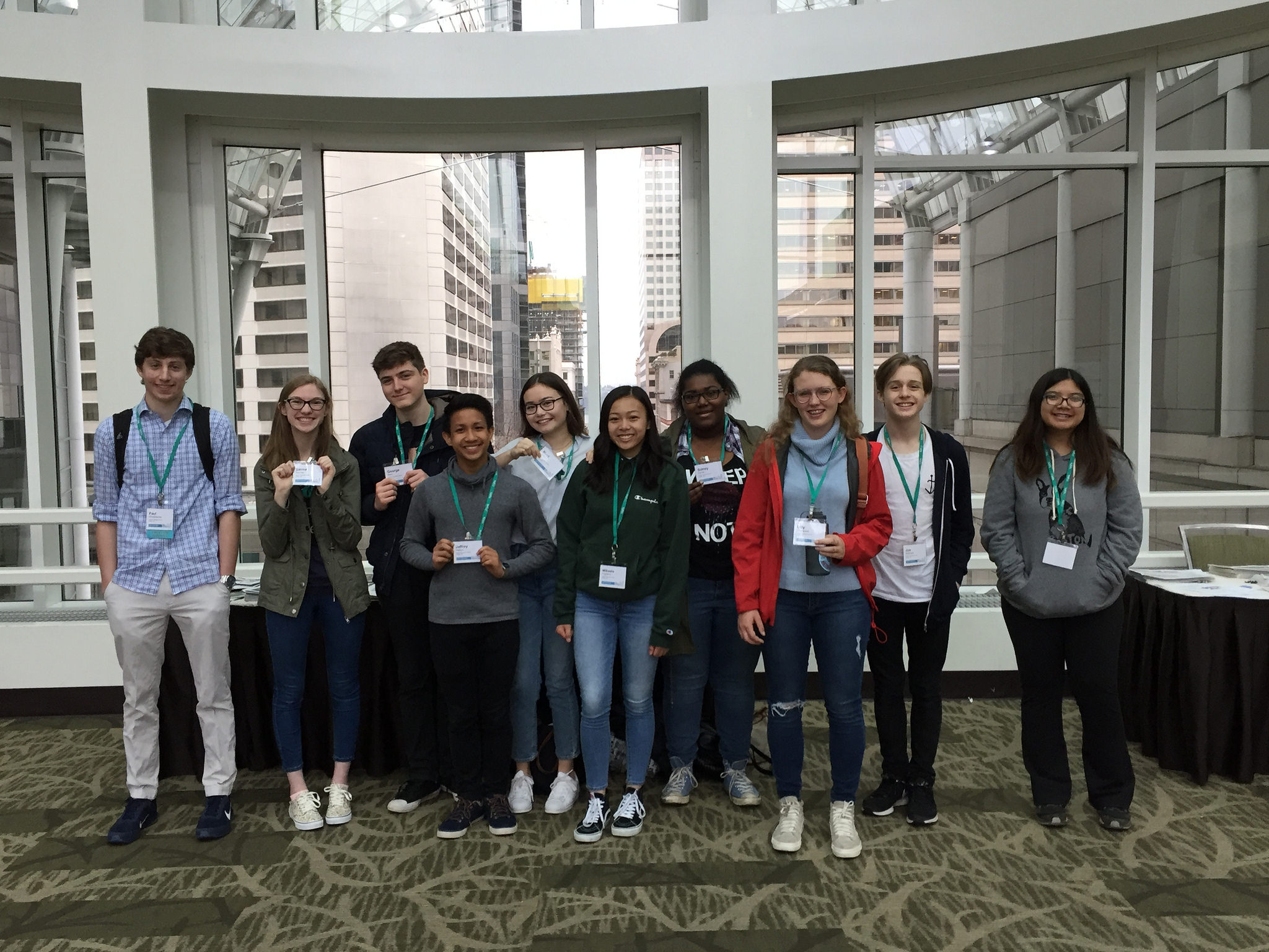 Members of The Panther staff gather at the JEA National Convention. Three Panther editors received Honorable Mention awards in Write-Off Contests.