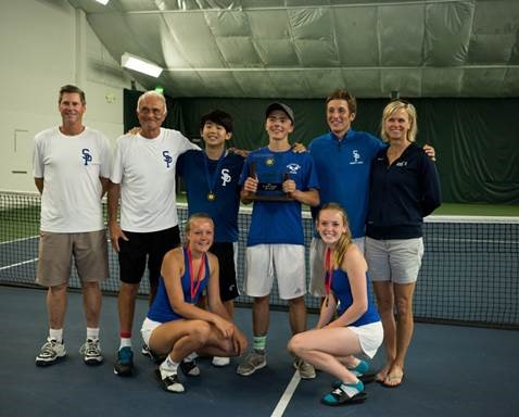 The Seattle Prep Tennis Team brought home a variety of hardware from the state tournament including Senior Matt Zech and Sophomore Alex Blattner's 3rd place doubles finish.
