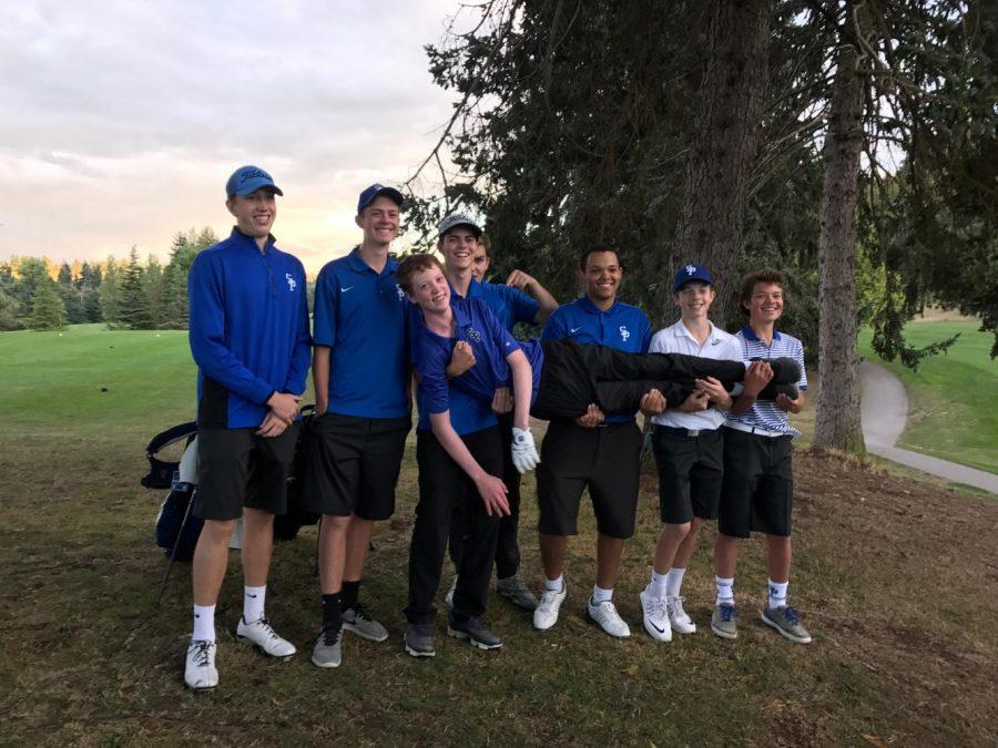 The golf team plays around at a recent match.