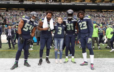 Howard '18 Participates in Seahawks Crucial Catch Coin Toss