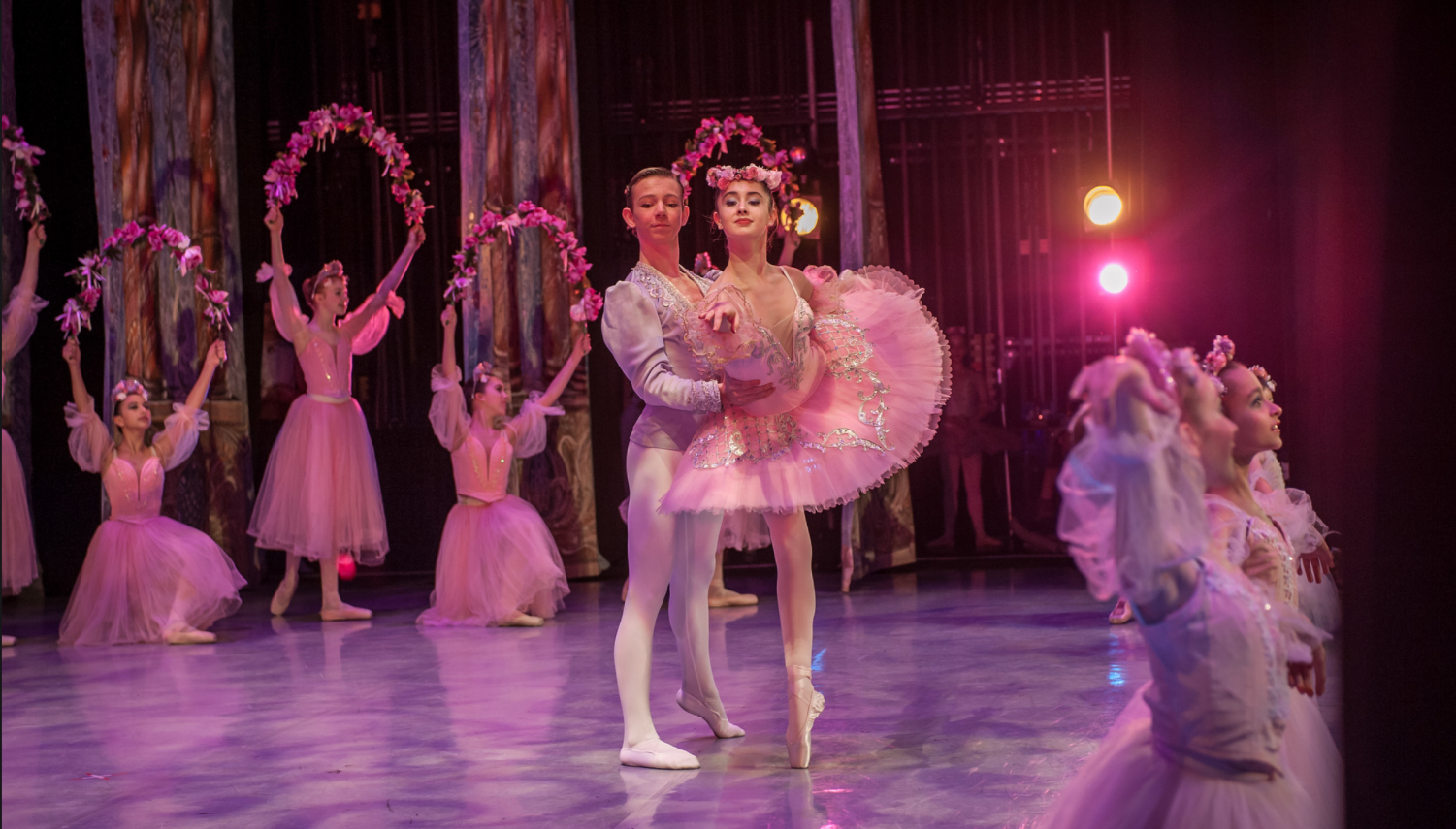 Dancers in the Nutcracker perform at the Pacific Northwest Ballet. Several students at Seattle Prep participate as dancers in several different Nutcracker performances throughout the holiday season.