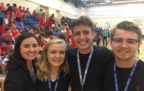 Alumni Service Corps members Payton James '15, Kit Tobin '15, Sven Shoultz '15 and Alex Behrman '15. All four ASC members are working in a variety of capacities at Prep this year.