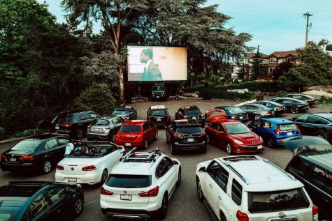 Drive-in movie theater at Canlis in Queen Anne.