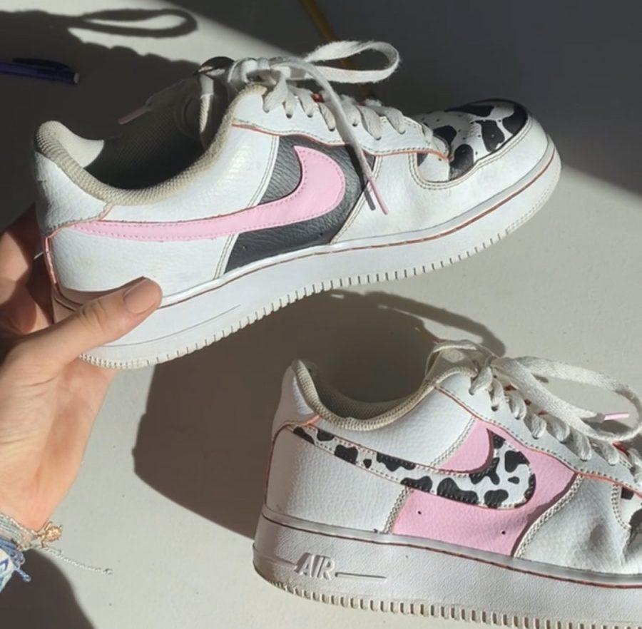 Customizing Kicks: Senior Chloë O'Meara Paints Shoes