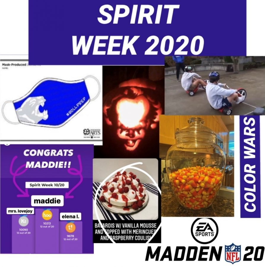 Spirit Week events and competition-winning submissions.