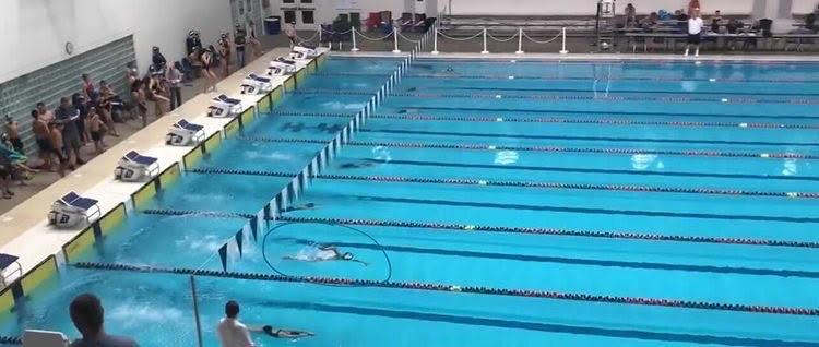 Daniel Soto Parra 24 competing in swim meet before COVID