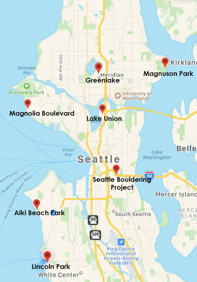 Seattle Prep students' favorite places to exercise outdoors in Seattle.