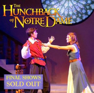 """Slavin posing for the poster to the Seattle Prep musical """"The Hunchback of Notre Dame"""". She played the character of Esmeralda."""