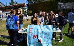 Members of EMM (Every Mind Matters) at the recent Club Fair.