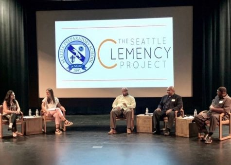 The Seattle Clemency Project panel at Seattle Prep in August.