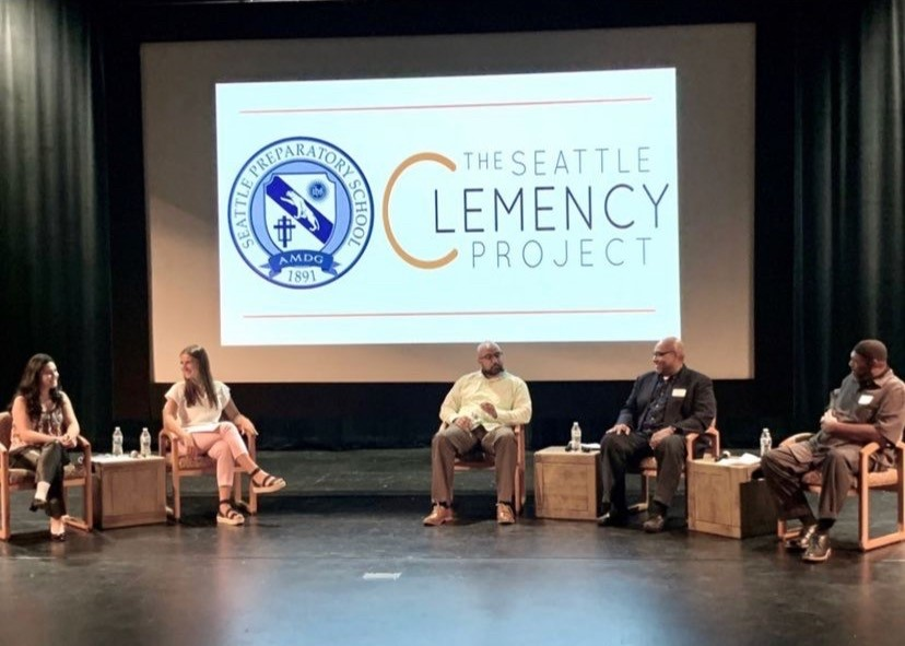 The+Seattle+Clemency+Project+panel+at+Seattle+Prep+in+August.